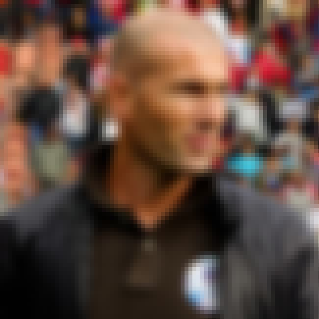 Zinedine Zidane      is listed (or ranked) 6 on the list List of Famous Footballers
