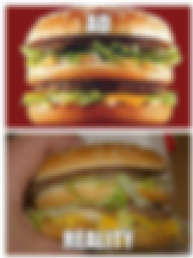 McDonald's Big Mac: Casual...      is listed (or ranked) 5 on the list Fast Food Menu Items in Real Life That Look Nothing Like the Ads